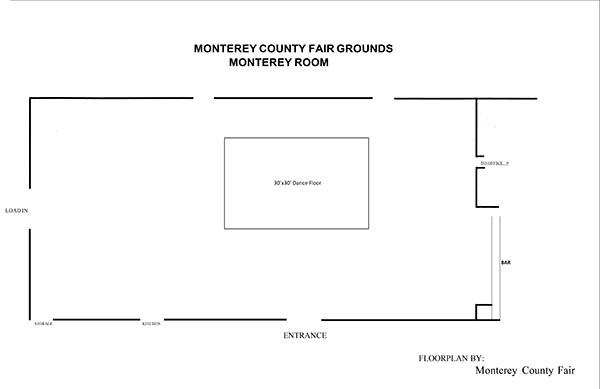 Monterey Room Layout
