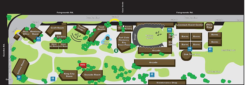 Monterey County Fair facility map