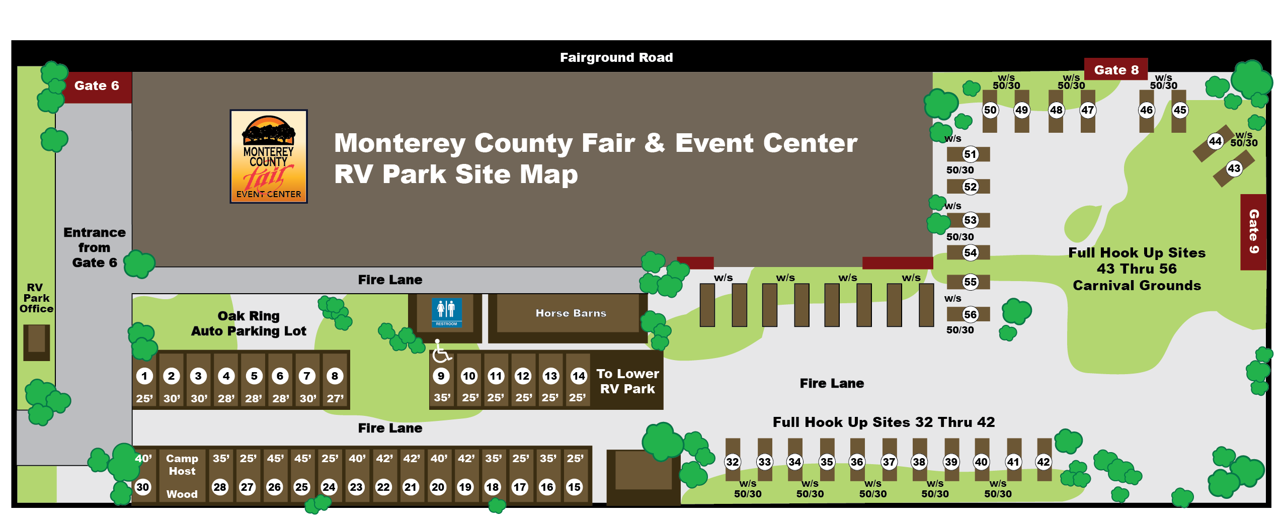 Monterey County Fair & EVent Center RV Parking Map