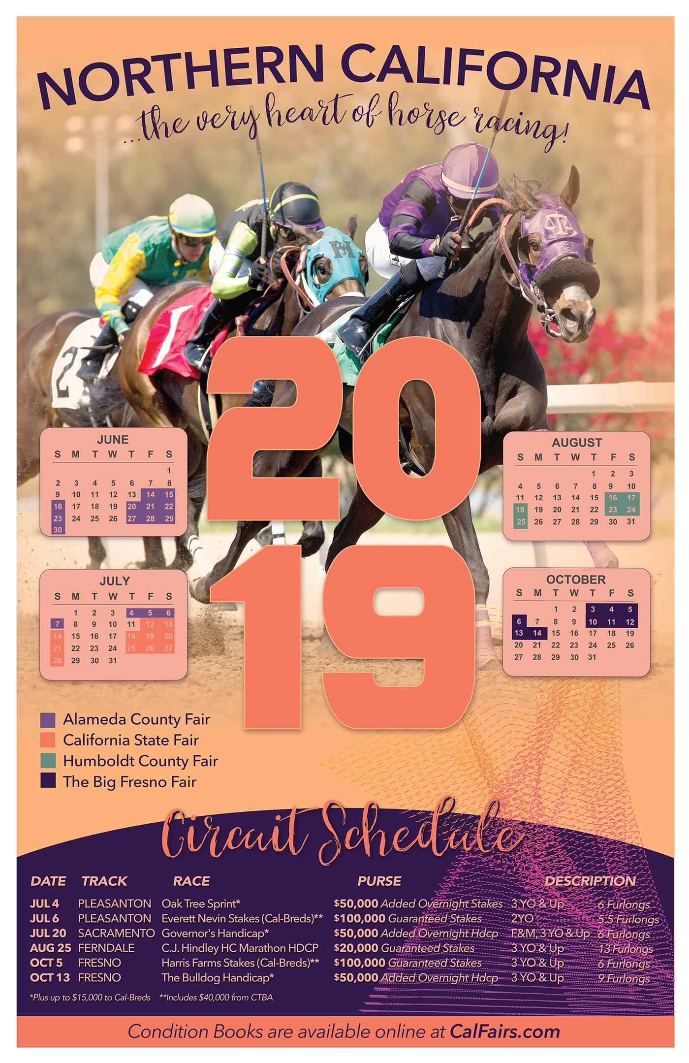 2019 Fair Racing Calendar