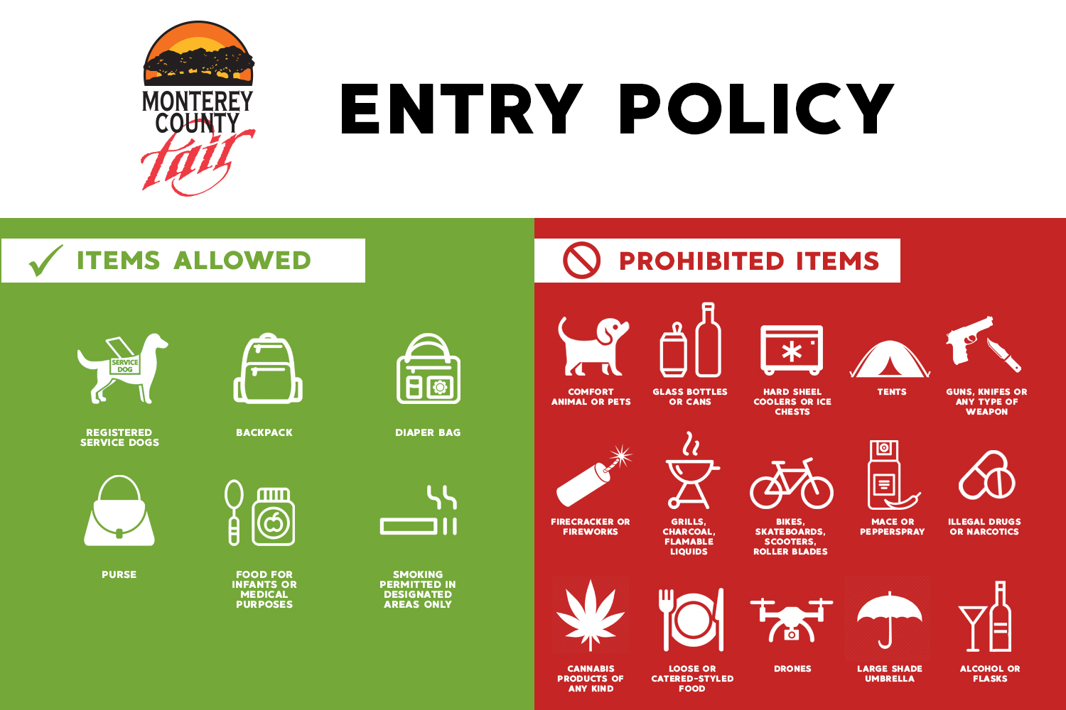 Monterey County Fair Entry Policy
