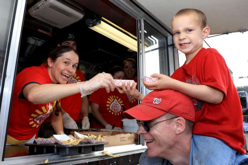 Kid at Food Truck